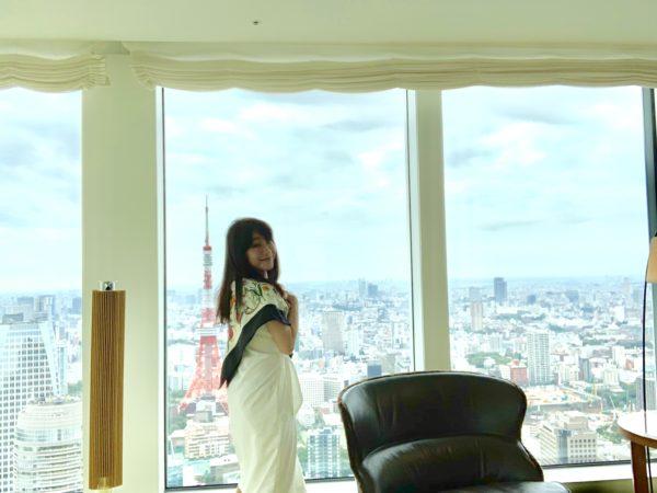 名古屋で活躍!お金に愛される秘訣をお届けしている、ファイナンシャルプランナーでマネーセミナー講師、女性経営者の小林美幸です。アンダーズ東京さまのスカイスイートルームに宿泊しました。